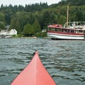 Boats and houses line the shores of Lake Washington.- North Lake Washington Sea Kayaking Loop