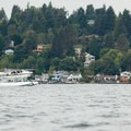 A seaplane takes off from Lake Washington.- North Lake Washington Sea Kayaking Loop