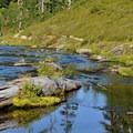 Fishing at Bagley Lakes.- Chain Lakes Loop Trail