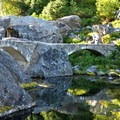The stone bridge at Bagley Lakes.- Chain Lakes Loop Trail