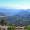 View of Crystal Lake Basin from Islip Ridge Trail.- Mount Islip Loop Trail