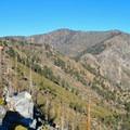 View of Windy Gap from the Islip Ridge Trail.- Mount Islip Loop Trail
