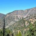 View of Highway 2 from Islip Ridge Trail.- Mount Islip Loop Trail