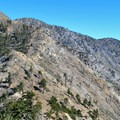 View of Windy Gap from Islip Ridge Trail.- Mount Islip Loop Trail