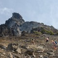 View of the summit from the route.- Mount Thielsen