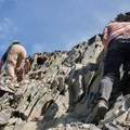 Use caution when making your way up. The rock is very unstable. Be considerate of others below you.- Mount Thielsen