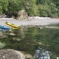 A beach on Matia Island.- Matia Island to Orcas Island Sea Kayaking