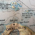 Map view of Orcas and Sucia Islands.- Orcas Island to Sucia Island Sea Kayaking