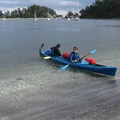 A landing just off of Sucia Island with clear water and sandy beaches.- Orcas Island to Sucia Island Sea Kayaking