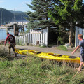 Obstruction Pass Beach is a great kayak lauch area.- Orcas Island: Obstruction Pass Beach