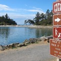 A view into Fossil Bay along the hiking trail.- Sucia Island Hiking Trail System