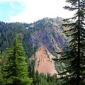 The Commonwealth Basin Trail opens to Alpine Lakes Wilderness views.- Commonwealth Basin Trail to Red Pass