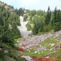 Path to Red Pond.- Commonwealth Basin Trail to Red Pass