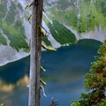 Rainy Lake from Maple Pass trail.- Maple Pass Loop Hike