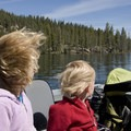Taking the boat shuttle across Redfish Lake (bring a jacket for early mornings).- Alpine Lake + Baron Divide