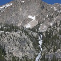 The view of Goat Falls from the Alpine Way Trail.- Alpine Way Trail, Fishhook Creek to Iron Creek