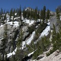 A closer view of Goat Falls from the spur hike leading to Goat Lake.- Alpine Way Trail, Fishhook Creek to Iron Creek