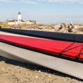 Taking a break near the lighthouse.- Dungeness Bay Sea Kayaking