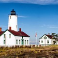The New Dungeness Lighthouse.- Dungeness Bay Sea Kayaking