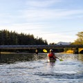 Paddling toward the Tsoo-Yess Beach Road bridge.- Sooes River Kayak/Canoe