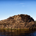 The rock at Jestered Point.- Ozette Lake Sea Kayaking