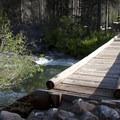 Bridge over Redfish Lake Creek before entering the Redfish Inlet campground.- Alpine Way Trail, Redfish to Huckleberry Creek