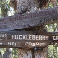 Trailsigns at the Huckleberry/Hell Roaring Divide.- Alpine Way Trail, Redfish to Huckleberry Creek