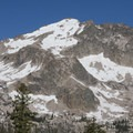 The south east face of Decker Peak from a spur ridge off the Alpine Way Trail.- Alpine Way Trail, Redfish to Huckleberry Creek