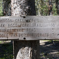 Trail sign at the Alturas/Mattingly junction.- Alturas Lake Creek to Mattingly Divide