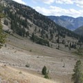 Looking down onto the Johnson Creek Trail.- Alturas Lake Creek to Mattingly Divide