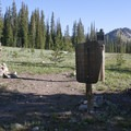 Wilderness boundary sign at the Mattingly Divide.- Alturas Lake Creek to Mattingly Divide