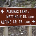 Junction at the Alturas Creek/Alpine Creek Trail.- Alturas Lake Creek to Mattingly Divide