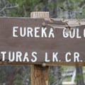 Trail sign at the junction with Eureka Gulch.- Alturas Lake Creek to Mattingly Divide