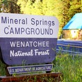 Campground entrance. Mineral Springs resort is located across the street.- Mineral Springs Campground