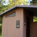 Restroom facilities.- Mineral Springs Campground