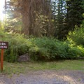 Limited parking available near the dumpster.- Mineral Springs Campground