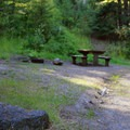 Typical campsite at Mineral Springs.- Mineral Springs Campground
