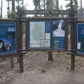 Trailhead kiosk at the Tin Cup Hikers trailhead.- Alice + Twin Lakes Hike