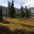 Alice Lake comes into view.- Alice + Twin Lakes Hike