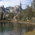 Another great view from the shoreline of Alice Lake.- Alice + Twin Lakes Hike