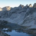 Looking down onto Twin Lakes from the Snowyside Divide.- Alice + Twin Lakes Hike
