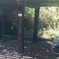 Covered picnic area with bicycle parking.- Dr. Rod Coler Audubon Nature Trail