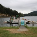 Boat rentals at Cascade Lake.- Orcas Island: Cascade Lake