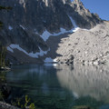 The 4th Bench Lake occupies an incredible alpine cirque at the base of Mount Heyburn.- Bench Lakes