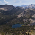 Three Island Lake and the headwaters of the South Fork of the Payette River from the summit of Plummer Peak.- South Fork of the Payette River, Benedict, Rock Slide, Three-Island Lakes + Ingleborg Divide