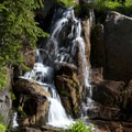 Small waterfall next to the trail en route to Rock Slide Lake.- South Fork of the Payette River, Benedict, Rock Slide, Three-Island Lakes + Ingleborg Divide