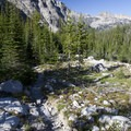 Looking downcanyon at Peak 9,438 from the Benedict Lake Trail.- South Fork of the Payette River, Benedict, Rock Slide, Three-Island Lakes + Ingleborg Divide