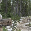 At the Hidden Lake junction the trail also continues to Virginia, Edna, and Vernon lakes, as well as the Sand Mountain divide.- South Fork of the Payette River, Hidden Lake and Cramer Divide