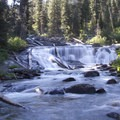 Lower Fern Falls on the South Fork of the Payette River.- South Fork of the Payette River, Taylor Springs to Elk Lake