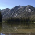 Looking south across the placid waters of Elk Lake.- South Fork of the Payette River, Taylor Springs to Elk Lake